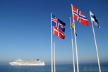 Cruiseship anchored in Öresund, Helsingborg