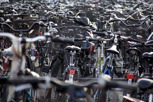 Bicycle parking outside the Central Station, Copenhagen