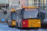 Local buses outside Copenhagen Airport
