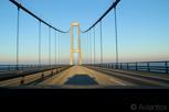 The Great Belt Bridge between Funen and Zealand