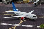 Scandinavian Airlines aircraft at Legoland, Billund