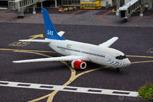 Scandinavian Airlines aircraft at Legoland, Billund