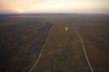Hot air balloon over Serengeti National Park