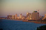 Tel Aviv at sunset