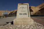 Sea level enroute to the Dead Sea