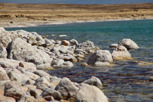 The salty Dead Sea