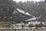 Shrine in snowfall, Takayama