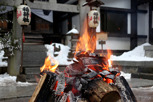Fire in front of a shrine, Takayama