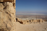 Massada with the Dead Sea as backdrop
