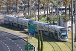 Modern tram at Jerusalem