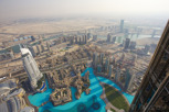 Top of Burj Khalifa view, Dubai