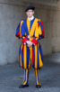 Swiss guard outside Saint Peter's Basilica, Vatican City
