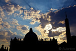 Saint Peter's Basilica at twilight, Vatican City