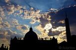 Saint Peter's Basilica at twilight, Vatican City