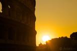 Coliseum at sunset, Rome