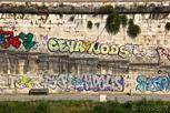 Street art at Tiber Rver, Rome