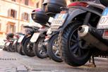 Parked vespas, Rome