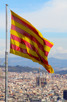 The Catalonian flag and la Sagrada Familia, Barcelona