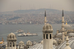 Rooftop view of Bosphorus River, Istanbul