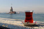 Kiz Kulesi and turkish tea, Üsküdar