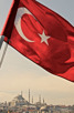 The flag of Turkey, Istanbul