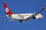 Turkish Airlines, the national airline of Turkey with a Boeing 737-800
