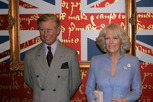 Prince Charles and Camilla Parker Bowles at Madame Tussauds, London