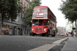 Classic doubledecker bus, London