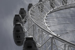 London Eye on a closeup