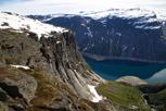 The trail to Trolltunga, Skjeggedal