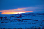 Sunset over the LKAB mine, Kiruna