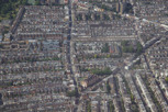 Typical London neigborhood as seen from above