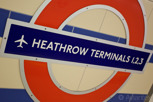 Heathrow underground station, London