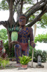 The native pineapple man scultpure, Moorea