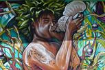 Local street art at Papeete, Tahiti