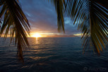 Sunset over Moorea as seen from the main island of Tahiti
