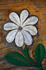 The national flower Tiare in wood, Papeete
