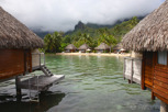 Overwater bungalows at Moorea Pearl Resort, Moorea