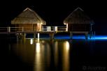 Overwater bungalows at Moorea Pearl Resort, Moorea