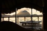Mount Otemanu view from the overwater bungalow, Bora Bora
