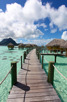 Overwater bungalows at Bora Bora Pearl Resort