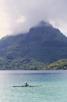A local va'a canoer, Bora Bora
