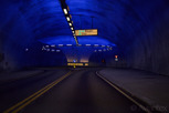 Roundabout inside a tunnel, Hardanger