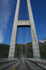 Modern bridge linking the complicated road system over the fjords, Hardanger