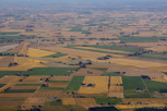 The beautiful landscape of Scania from above