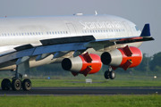 Astrid Viking reverses after landing on rwy 04L at Copenhagen/Kastrup - Airbus A340-300