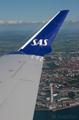 Inflight shot of Malmö and Turning Torso onboard a CRJ 900 to Copenhagen/Kastrup
