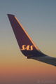 Beautiful inflight sunset shot of the winglet of a Boeing 737