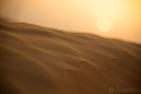 Sunset over desert, United Arab Emirates