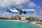 Air Caraïbes Airbus A330-200 on final over Maho Beach at Sint Maarten, Netherlands Antilles
